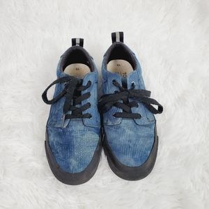 Toms Boys Carlito Blue and Black Sneakers